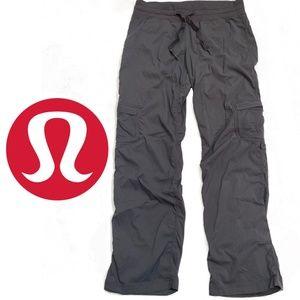 Lululemon Grey Dance Studio Cargo Pant Capris